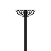 This item: Hanford Black 60-Inch Twin Mailbox Post Mount