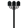 This item: Hanford Black Scroll Support Triple Mailbox Post Mount