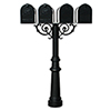 This item: Hanford Black Scroll Support Quad Mailbox Post Mount with Decorative Base