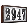 This item: Serrano Bronze Lighted Address Plaque