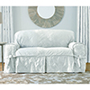 This item: White Matelasse Damask Sofa Slipcover