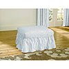This item: White Matelasse Damask Ottoman Slipcover