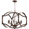 This item: Atwood Oiled Bronze Eight-Light Pendant