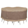This item: Elegant Swiss Coffee 76 In. Round Patio Table with Chairs Set Cover
