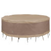 This item: Elegant Swiss Coffee 96-Inch Round Patio Table and Chair Set Cover