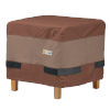 This item: Ultimate Mocha Cappuccino 20-Inch Square Ottoman Side Table Cover