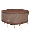 This item: Ultimate Mocha Cappuccino 72-Inch Round Table and Chair Set Cover