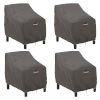 This item: Maple Dark Taupe Patio Lounge Chair Cover, Set of 4