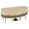 This item: Ash Beige and Brown Bistro Round Patio Table and Chair Set Cover
