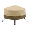 This item: Ash Beige and Brown 24-Inch Full Coverage Round Fire Pit Cover