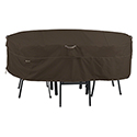 This item: Birch Dark Cocoa Large RainProof Rectangular Oval Patio Table and Chair Set Cover