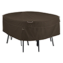 This item: Birch Dark Cocoa Large RainProof Round Patio Table and Chair Set Cover