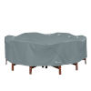 This item: Poplar Monument Grey Round Table and Chairs Cover