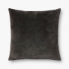 This item: Charcoal Grey 22 In. x 22 In. Throw Pillow Cover with Down