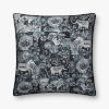 This item: Charcoal Polyester Cotton Acrylic and Viscose 22 In. x 22 In. Throw Pillow Cover with Down