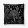 This item: Black Polyester 22 In. x 22 In. Throw Pillow Cover with Down