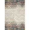 This item: Mika Ivory and Mediterranean 18 x 18-Inch Power Loomed Rug