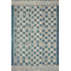 This item: Mika Blue and Ivory 18 x 18-Inch Power Loomed Rug