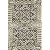 This item: Mika Ivory and Black 3 Ft. 11 In. x 5 Ft. 11 In. Power Loomed Rug