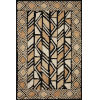 This item: Nala Black Beige Rectangular: 7 Ft. 9 In. x 9 Ft. 9 In. Rug