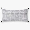 This item: Black with White 12 In. x 27 In. Throw Pillow Cover