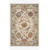 This item: Padma White and Multicolor Rectangle: 3 Ft. 6 In. x 5 Ft. 6 In. Rug
