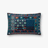This item: Blue Multicolor 13 In. x 21 In. Throw Pillow Cover with Poly Insert