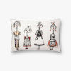 This item: White with Multicolor 13 In. x 21 In. Throw Pillow Cover with Poly Insert