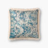 This item: Ivory Multicolor Acrylic and Polyester 18 In. x 18 In. Throw Pillow Cover with Poly Insert