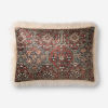 This item: Ivory Multicolor 16 In. x 26 In. Throw Pillow Cover with Poly Insert
