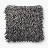 This item: Charcoal Viscose Wool and Polyester 22 In. x 22 In. Throw Pillow Cover with Poly Insert