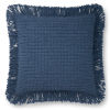 This item: Blue 22 x 22-Inch Machine Made Pillow
