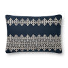 This item: Navy and Ivory 16 x 26-Inch Machine Made Pillow