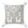 This item: Gray and Ivory 22-Inch Pillow Cover with Poly Insert