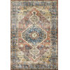 This item: Skye Rust and Blue 2 Ft. 3 In. x 3 Ft. 9 In. Power Loomed Rug