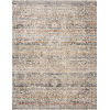 This item: Theia Taupe and Multicolor 34 x 96-Inch Power Loomed Rug