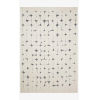 This item: Hagen White and Navy Rectangular: 3 Ft. 7 In. x 5 Ft. 7 In. Area Rug