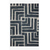 This item: Hagen Blue and White Rectangular: 3 Ft. 7 In. x 5 Ft. 7 In. Area Rug
