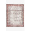 This item: Layla Ivory and Brick Rectangular: 7 Ft. 6 In. x 9 Ft. 6 In. Area Rug