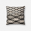 This item: Black and White 18 In. x 18 In. Throw Pillow with Down Fill