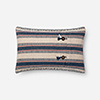 This item: Indigo and Natural 13 In. x 21 In. Throw Pillow with Poly Fill