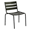 This item: Metro Textured Black Iron Cafe Dining Side Chair