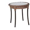 This item: Barlow Bronzed Teak Round End Table