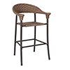 This item: Barlow Bronzed Teak Stationary Bar Stool