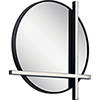 This item: Kemena Matte Black 24-Inch LED Lighted Mirror