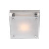 This item: Helios Chrome 10-Inch LED Flush Mount with Silk Screened White Glass