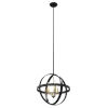 This item: Compass Graphite Three-Light Orbit Pendant