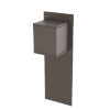 This item: Chinook Black Five-Inch One-Light Outdoor Wall Mount
