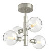 This item: Ocean Drive Satin Nickel and Chrome 17-Inch Four-Light Semi Flushmount