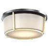 This item: Jarvis Black and Soft Gold LED Flush Mount with Half Opal Glass